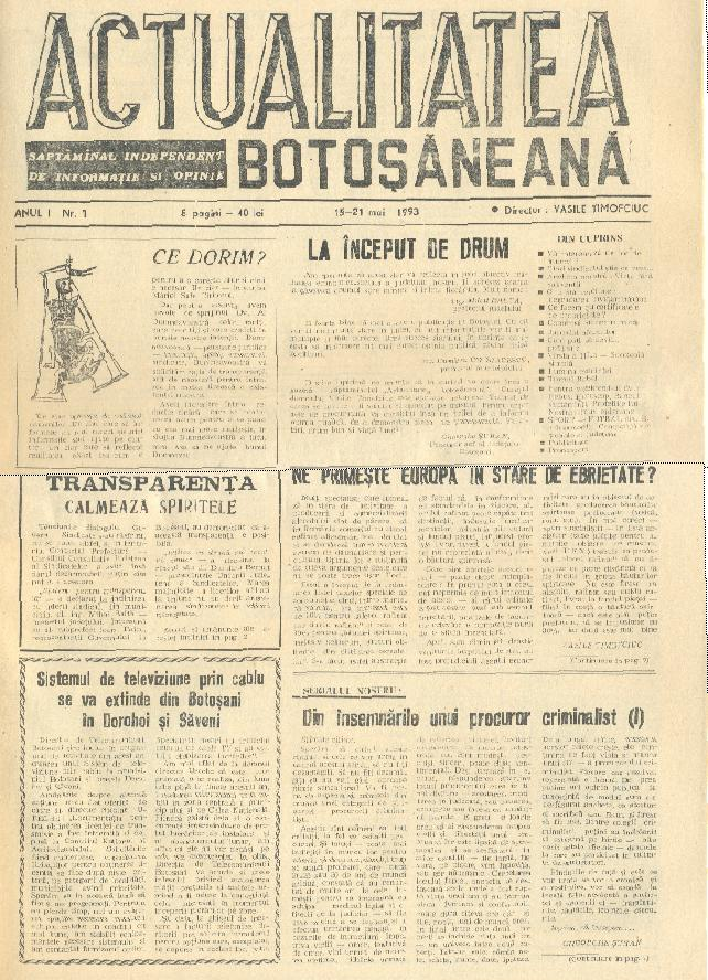 Actualitatea Botosaneana-nr.1