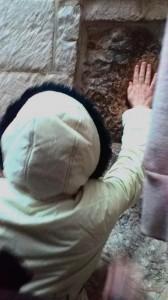 Locul unde Iisus s-a sprijinit de zid