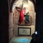 Întâlnirea lui Iisus cu Maica  Domnului, imortalizată la  Mănăstirea Sf. Haralambie