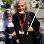 Părintele Acatrinei cu doamna Haifa-ghid Egipt
