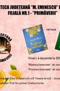 """Clubul """"Lecturi de cinci stele"""" se reunește vineri, la Biblioteca Județeană"""