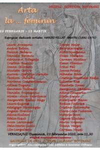 Muzeul Judeţean Botoşani prezintă, în perioada 23 februarie – 15 martie 2020, expoziția colectivă ,,Arta la … feminin ˮ deschisă la Galeriile de Artă ,,Ștefan Luchianˮ Botoșani