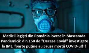 """Medicii legiști români lovesc dur în Mascarada Pandemică: din 150 de """"DECESE COVID"""" investigate la IML, foarte puține au cauza morții SARS-CoV-2"""