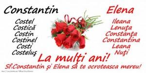 Peste 1,8 milioane de români își serbează azi, de Sfinții Constantin și Elena, onomastica
