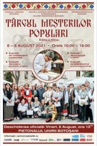 Târgul Meșterilor Populari – ediția a XIV-a 6-8 august 2021