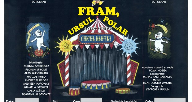 """Fram, ursul polar"" la Teatrul VASILACHE"